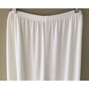 Caroline Rose Pants - Caroline Rose White wide leg pants NWT